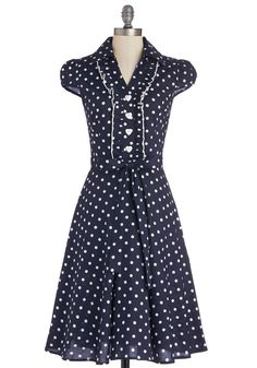About the Artist Dress in Navy Dots | Mod Retro Vintage Dresses | ModCloth.com