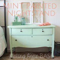 {Craigslist Dresser} becomes a {Mint Green Wonder!}