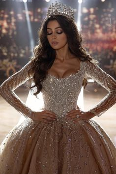 Fancy Wedding Dresses, Pretty Quinceanera Dresses, Sheer Wedding Dress, Wedding Dress Trends, Princess Wedding Dresses, Pretty Dresses, Bridal Dresses, Beautiful Dresses, Boho Wedding