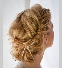 loose curl updo #weddinghair #relaxedupdo #weddingchicks http://www.weddingchicks.com/2014/03/05/pink-paris-wedding-ideas/