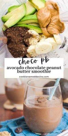 This smoothie is unlike anything you've had before. It's thick, creamy and packed with flavor like a milkshake, but is packed with nutrients that will keep you satisfied all morning long Chocolate Chip Cookies Ingredients, Chocolate Peanut Butter Smoothie, Best Chocolate Desserts, Decadent Chocolate Cake, Peanut Butter Desserts, Healthy Food Choices, Healthy Recipes, Pumpkin Smoothie, Smoothie Bowl