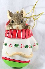 Charming Tails Christmas Ornament Mackenzie Mouse in Mitten
