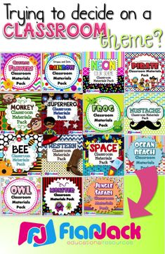 Over 15 classroom theme designs to choose from with loads of materials to create a bright learning environment