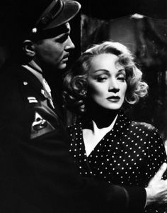 "Marlene Dietrich with John Lund in ""A Foreign Affair"" (1948)"