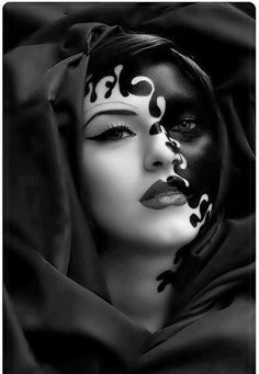 """One of the images portrayed in Macbeth is concealment vs. reality. Lady Macbeth for example demands Macbeth to """"look like the innocent flower but be the serpent under't""""(I,V, 65-66). Shakespeare uses a flower to represent the innocence on the outside but a snake on the inside. This confirms Lady Macbeth's personality perfectly. This image has a woman with black paint over their true face disguising Lady Macbeth's reality. Macbeth is taken in by Lady Macbeth's philosophy eventually."""