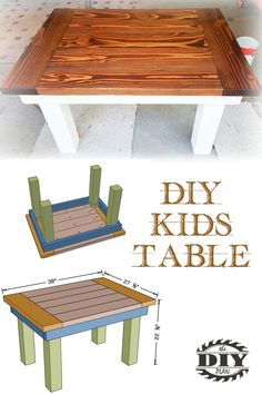 How to Build DIY Kids Table Free printable PDF with step by step instruction of how to build a DIY Kids Table. Visit our website to see more info and a vedio. Related posts: How to build a DIY Kids Play Table Easy DIY Kids Table and Chair set with Free … Diy Furniture Table, Diy Furniture Projects, Diy Chair, Diy Wood Projects, Diy Furniture To Sell, Diy Furniture Building, Furniture Market, Plywood Furniture, Furniture Design