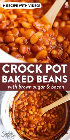 Baked Beans On Toast, Baked Beans Crock Pot, Best Baked Beans, Slow Cooker Baked Beans, Baked Beans With Bacon, Homemade Baked Beans, Baked Bean Recipes, Crock Pot Slow Cooker, Crock Pot Cooking