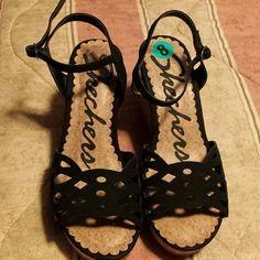 Womens heel wedges Black cute wedges sketchers sketchers Shoes