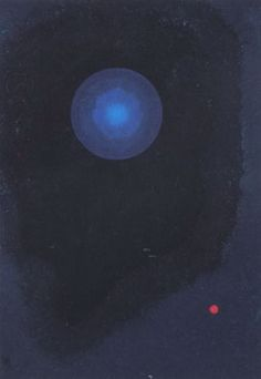 Painter Wassily Kandinsky. Blue. 1927