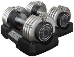 Bayou Fitness Pair of Adjustable 25 lb Dumbbells (Two 25-Pounds)