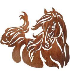 Windy Horse Laser-Cut Wall Sculpture by Lazart
