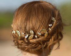 Accesorios nupciales del pelo tocados de novias por Ayajewellery