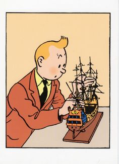 "Tintin: ""The Secret of the Unicorn"" Tin Tin Cartoon, Captain Haddock, Herge Tintin, Comic Art, Comic Books, Lucky Luke, Ligne Claire, Chef D Oeuvre, Latest Books"