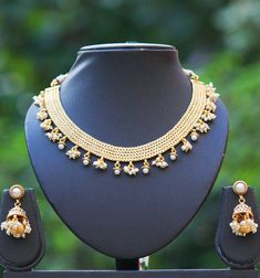 Elegant Pearl Necklace Set – India1001.com