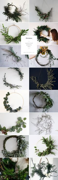 16 of the prettiest asymmetrical wreaths around