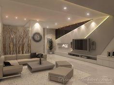 Arts by Rimba Architect Team Room Design, Modern Houses Interior, Ceiling Design Bedroom, Apartment Design, House Interior, Tv Room Design, Bedroom Bed Design, Hallway Designs, Home Interior Design