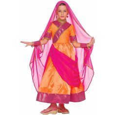 Bollywood Girls' Child Halloween Costume - Walmart.com