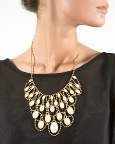 Chandelier Bib Necklace