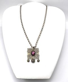 Multi Rhines Colorful Butterfly Necklace Pendant Vintage Pink Party Jewelry Gift