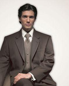 Brown Parisian Tuxedo Prom, Wedding, Tip Top Tux