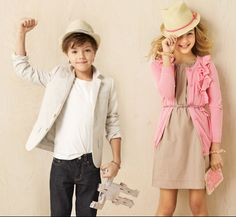 These kids dress better than I do ;) Can I get that little girls outfit in my size?! haha