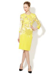 Jersey Open Back Metallic Embellished Dress by Naeem Khan at Gilt