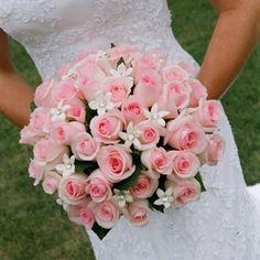 Wedding flowers pink roses