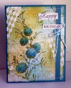 Inky Happy Birthday by Ellibelle - Cards and Paper Crafts at Splitcoaststampers