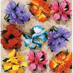 Hula Girl Flower Lei Hair clip ** Click image to review more details.