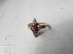 Antique Victorian 12k Solid Gold Ring With by LUXXORVintage, $378.00