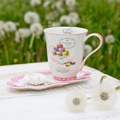 Porcelánový hrnček s podložkou Pin Up pink - Dekoria Pin Up, Espresso, Mugs, Tableware, Dinnerware, Tumbler, Dishes, Pinup, Mug