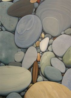 Smooth beach stones - I love rocks like these. Love Rocks, Rocks And Gems, Rocks And Minerals, Love Stoned, Sticks And Stones, Stone Art, Rock Art, Textures Patterns, Painted Rocks