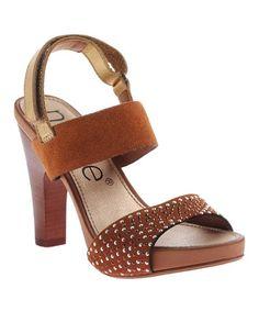 Look what I found on #zulily! Tuscany Artistico Leather Platform Sandal #zulilyfinds