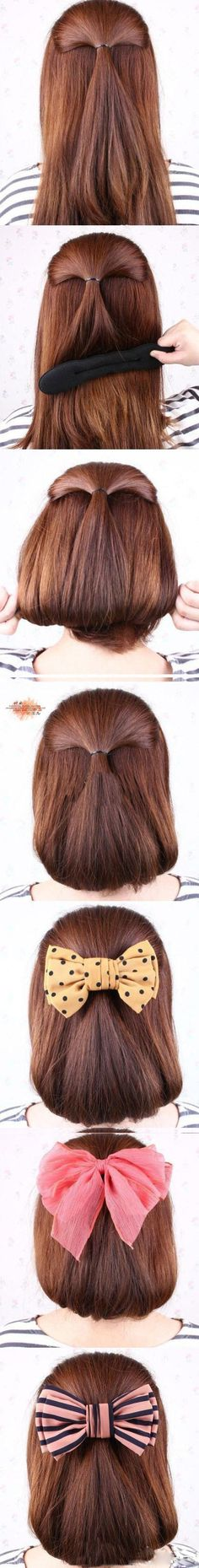 Hair with bows
