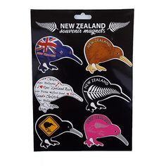 This pack of 6 Kiwi Bird Fridge Magnets will look great on your fridge door. Or take them overseas and give out as individual gifts. Kiwi Bird, New Zealand, Magnets, Great Gifts, Packing, Flat, How To Make, Products, Bag Packaging