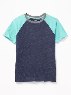 4b49054d5 Old Navy Boys' Softest Raglan-Sleeve Tee Lost At Sea Navy Regular Size L