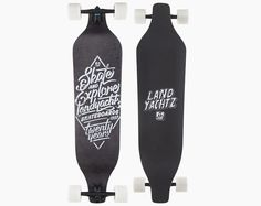 landyachtz evo skate and explore downhill freeride series drop longboard skateboard