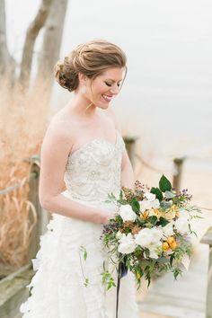 Photography: Natalie Franke - nataliefranke.com  Read More: http://www.stylemepretty.com/2015/04/08/romantic-tangerine-navy-wedding-inspiration/