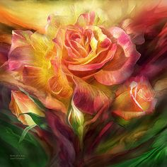 Birth Of A Rose art by Carol Cavalaris.