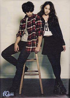SHINee Minho and f(x) Sulli and Krystal - High Cut Magazine Vol.94