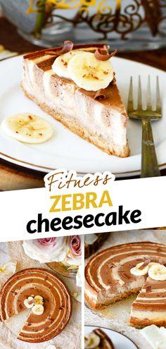 Máš zásobu tvarohu a banánů a chceš vykouzlit jednoduchý ale netradiční fit cheesecake třeba na narozeninovou oslavu nebo i jen tak na snídani nebo svačinu? Přidej vejce, ovesnou mouku a zkus tzv. zebra metodu, která spočívá ve střídavém nalévaní dvou barevně odlišných těst do sebe. Pokud přidáš i protein, získáš bílkovinami nadupaný ale nízkokalorický dort, který tě zasytí jedním kouskem až na 3 hodiny.