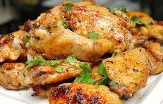 Spicy Lime & Honey Chicken Wings - Guy Fieri - can be baked in the oven or grilled! Honey Wings, Honey Chicken Wings, Lime Chicken, Chicken Tenders, Freezer Cooking, Cooking Recipes, Great Recipes, Favorite Recipes, Chicken Wing Recipes