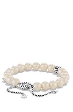 David Yurman 'Spiritual Beads' Bracelet with Pearls available at #Nordstrom