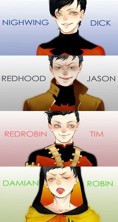 I like how Damian's is backwards so appropriate lol