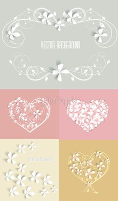 Free download Plain paper-cut pattern Vector. with its elegant, pink, flower borders, paper-cuts, patterns. Category: Pattern border