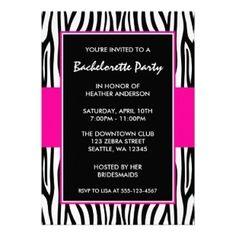 Hot Pink Zebra Bachelorette Party