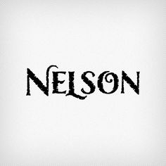 Nelson is named after and dedicated to Laura's friend and mentor Gary P. Nelson, a fellow instructor and former design professor. The design for this titling fo