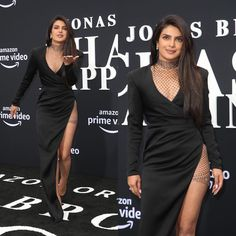 Priyanka Chopra , Danielle Jonas ,Sophie Turner became the hottest cheerleaders for their husbands at Premiere of Jonas Brothers Documentary Chasing Happiness - HungryBoo Danielle Jonas, Nick Jonas, Black Satin Dress, Metallic Dress, Celebrity Outfits, Celebrity Style, Hot Cheerleaders, Men's Fashion Brands, Looking Dapper
