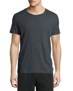 Classic Short-Sleeve Crewneck Tee, Charcoal (Grey), Size: X-LARGE - ATM