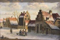 Gemälde Holländische Winterlandschaft